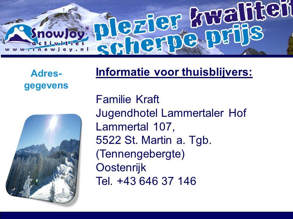 Informatie voor thuisblijvers: Familie Kraft