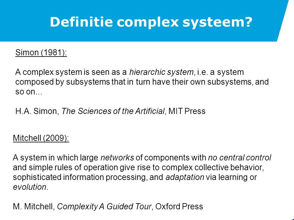 Definitie complex systeem