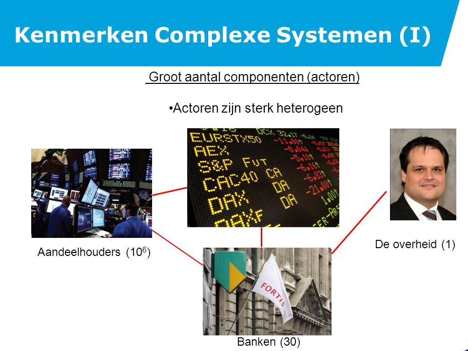 Kenmerken Complexe Systemen (II)