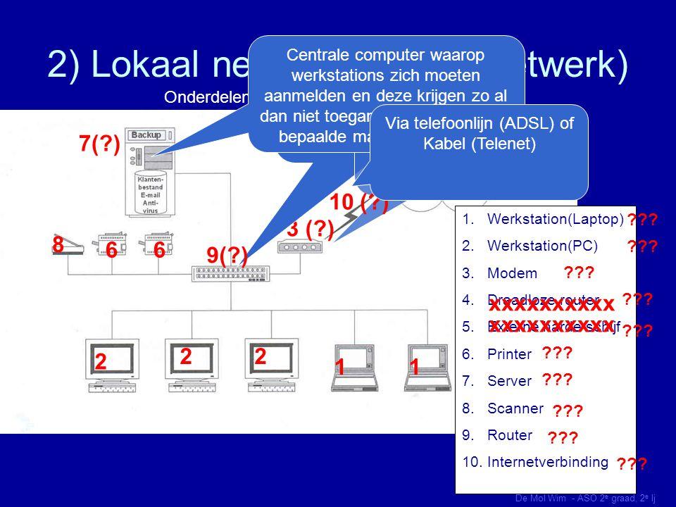 2) Lokaal netwerk (bedrijfsnetwerk)