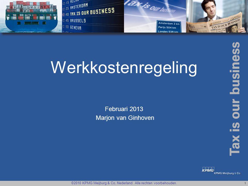 Werkkostenregeling Februari 2013 Marjon van Ginhoven