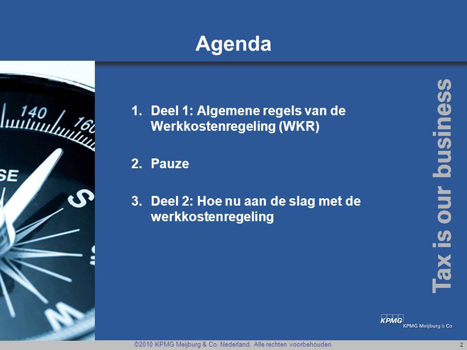 Agenda Deel 1: Algemene regels van de Werkkostenregeling (WKR) Pauze