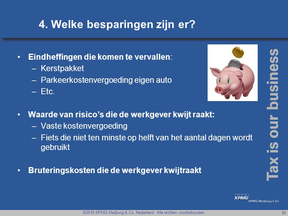4. Welke besparingen zijn er