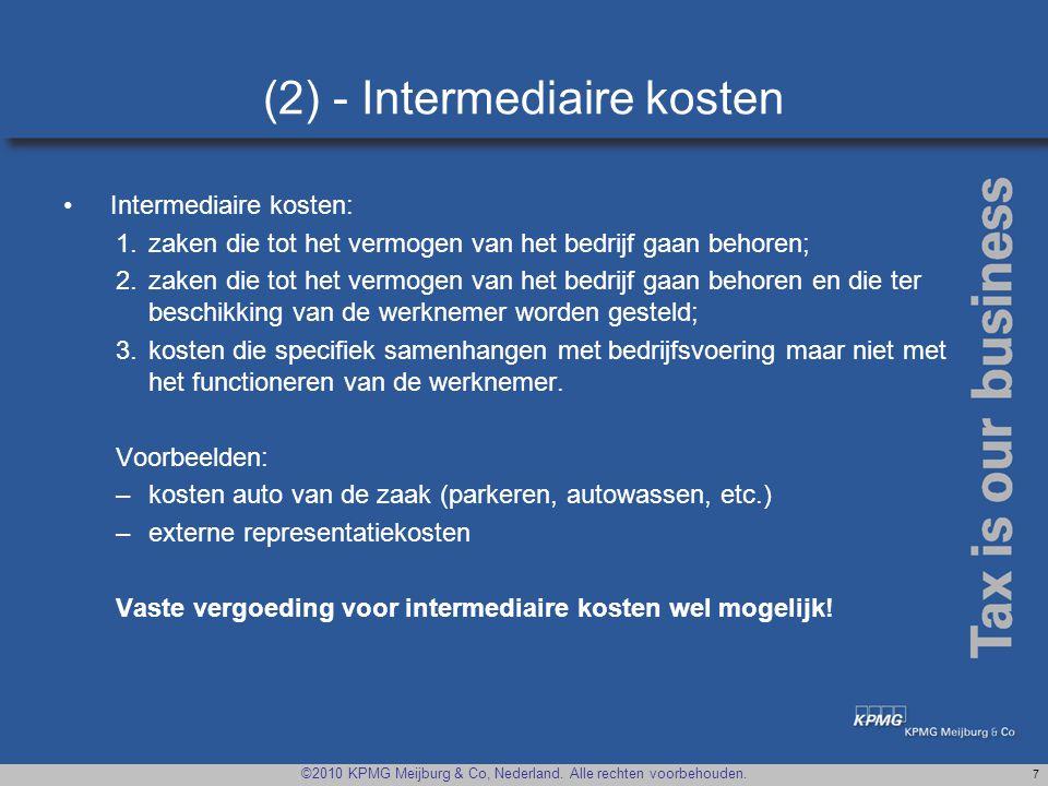 (2) - Intermediaire kosten