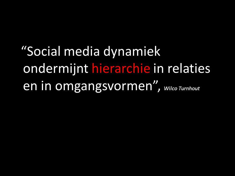 Social media dynamiek ondermijnt hierarchie in relaties en in omgangsvormen , Wilco Turnhout