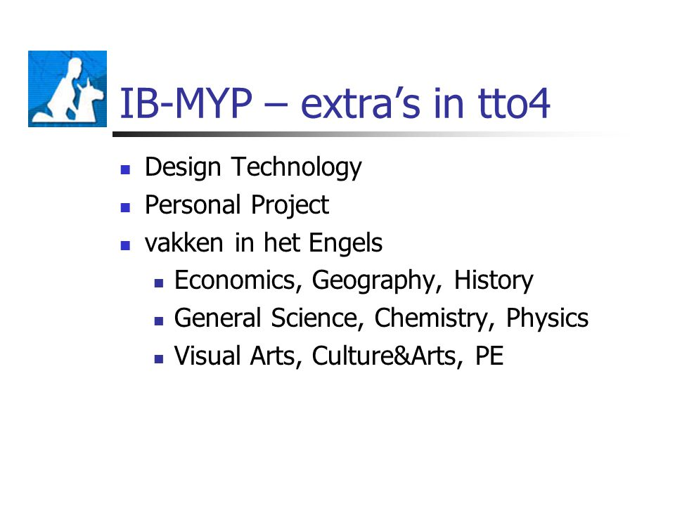IB-MYP – extra's in tto4 Design Technology Personal Project