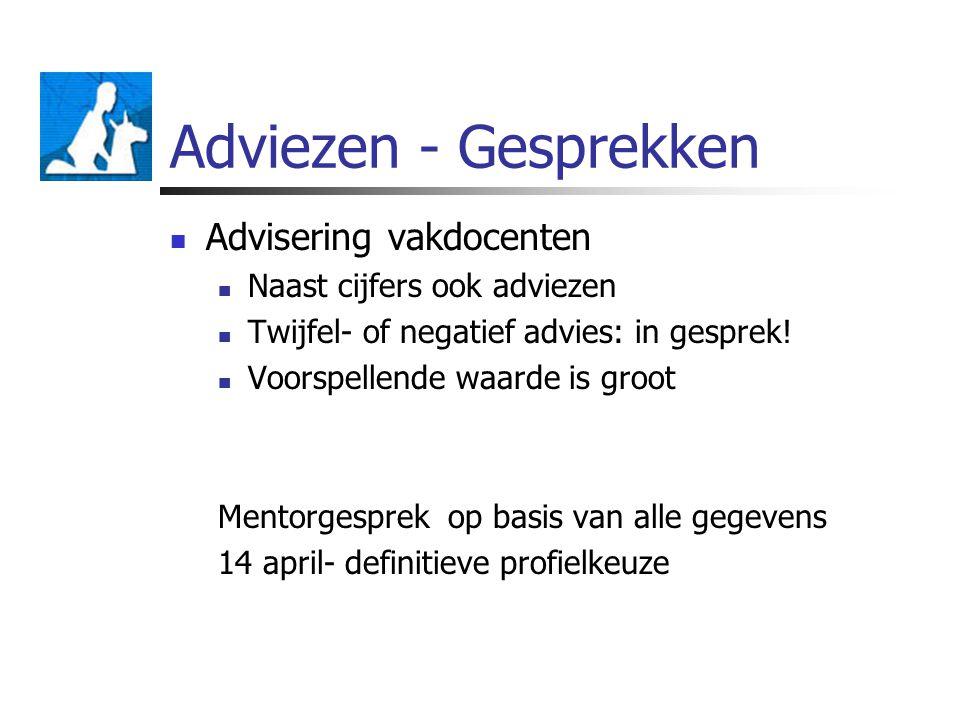 Adviezen - Gesprekken Advisering vakdocenten