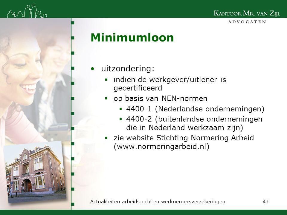 Minimumloon uitzondering: