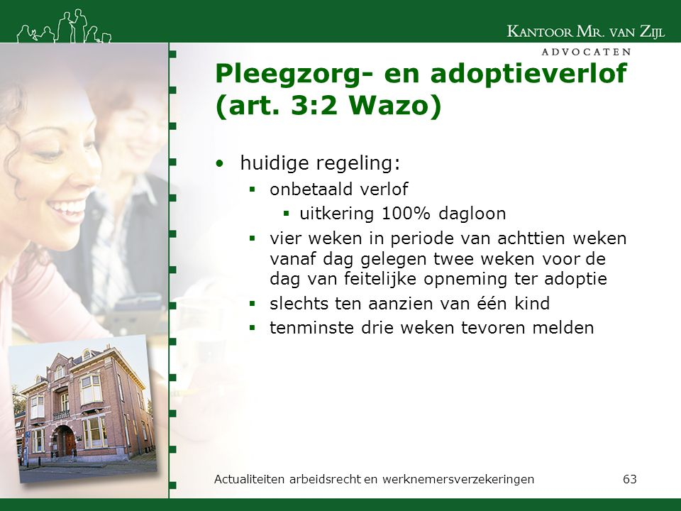 Pleegzorg- en adoptieverlof (art. 3:2 Wazo)