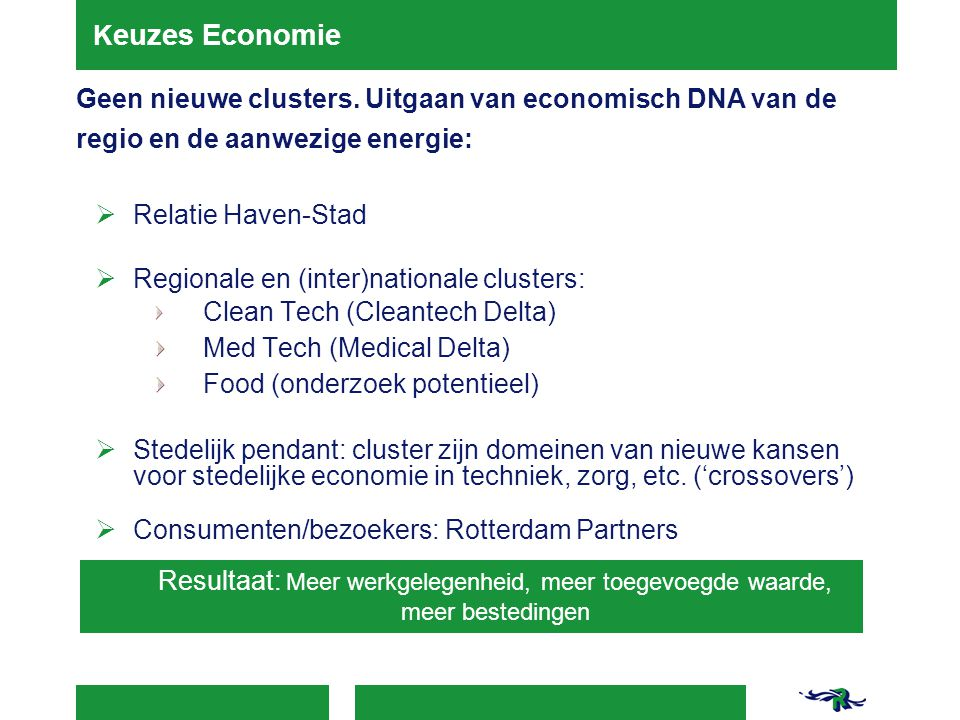 Regionale en (inter)nationale clusters: Med Tech (Medical Delta)