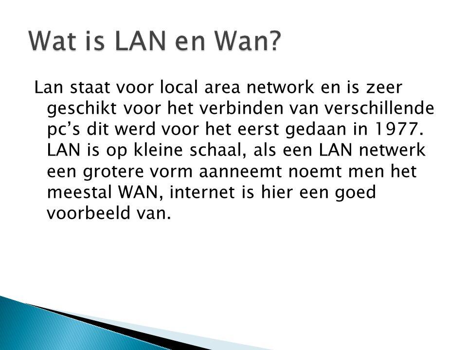 Wat is LAN en Wan