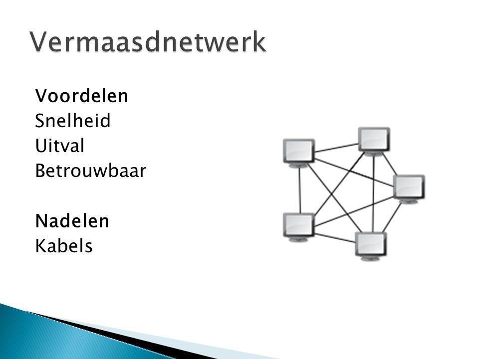 Vermaasdnetwerk Voordelen Snelheid Uitval Betrouwbaar Nadelen Kabels