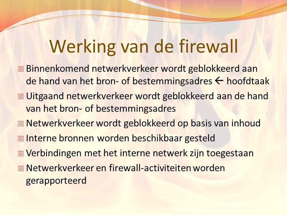 Werking van de firewall