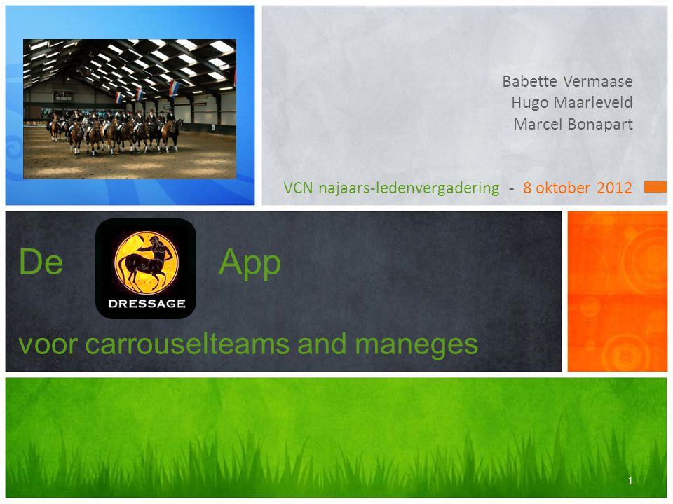 De App voor carrouselteams and maneges