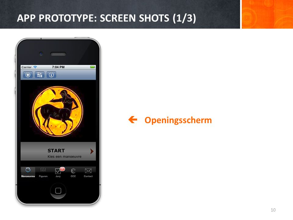 APP PROTOTYPE: SCREEN SHOTS (1/3)