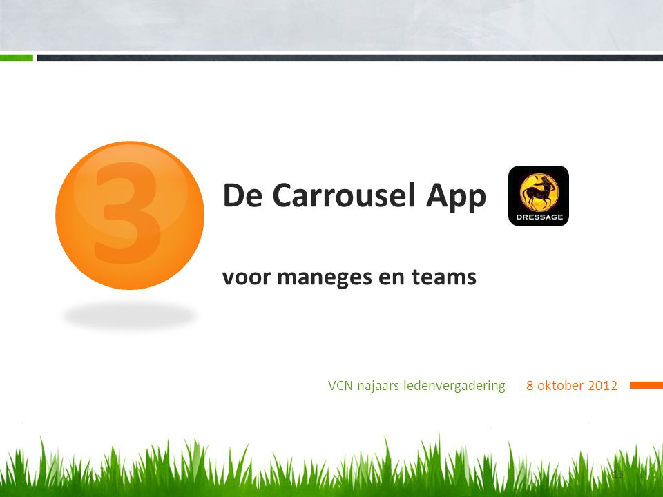 De Carrousel App voor maneges en teams