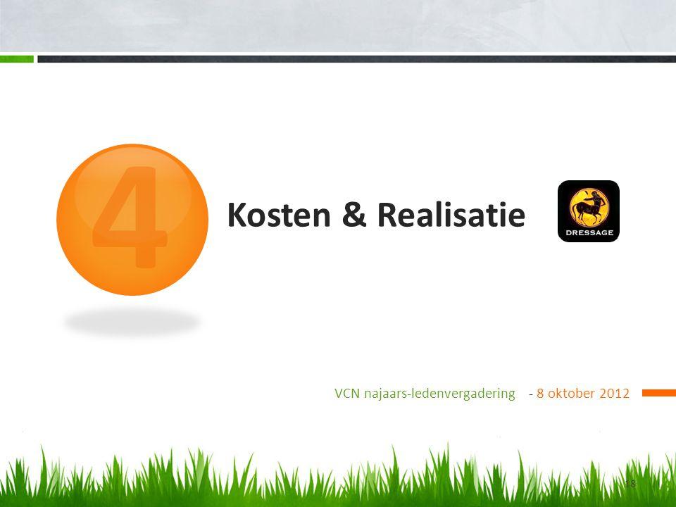 4 Kosten & Realisatie VCN najaars-ledenvergadering - 8 oktober 2012