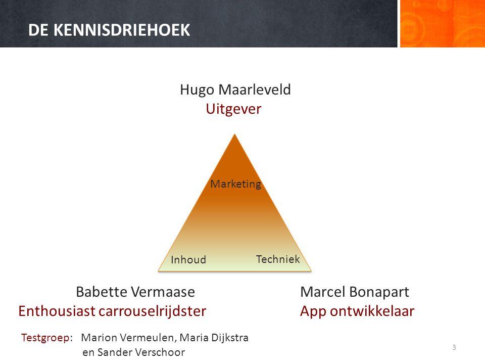 DE KENNISDRIEHOEK Hugo Maarleveld Uitgever Babette Vermaase