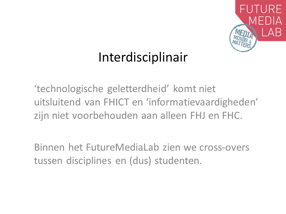 Interdisciplinair
