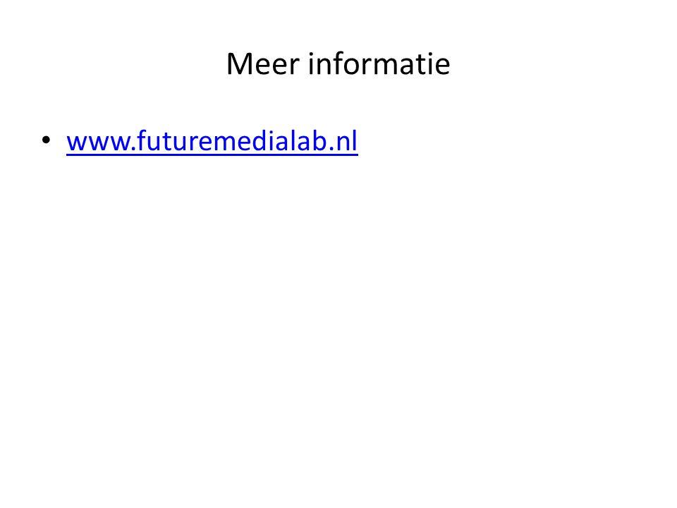 Meer informatie www.futuremedialab.nl