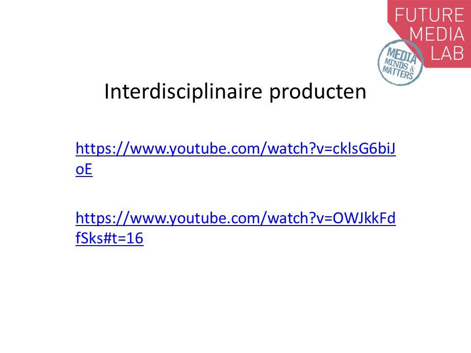 Interdisciplinaire producten