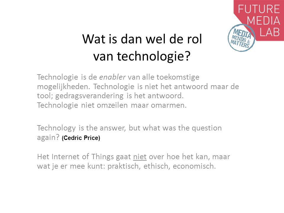 Wat is dan wel de rol van technologie