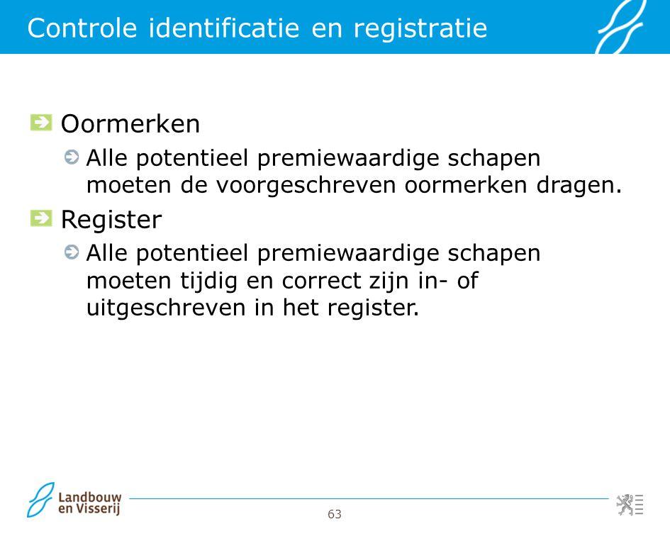 Controle identificatie en registratie