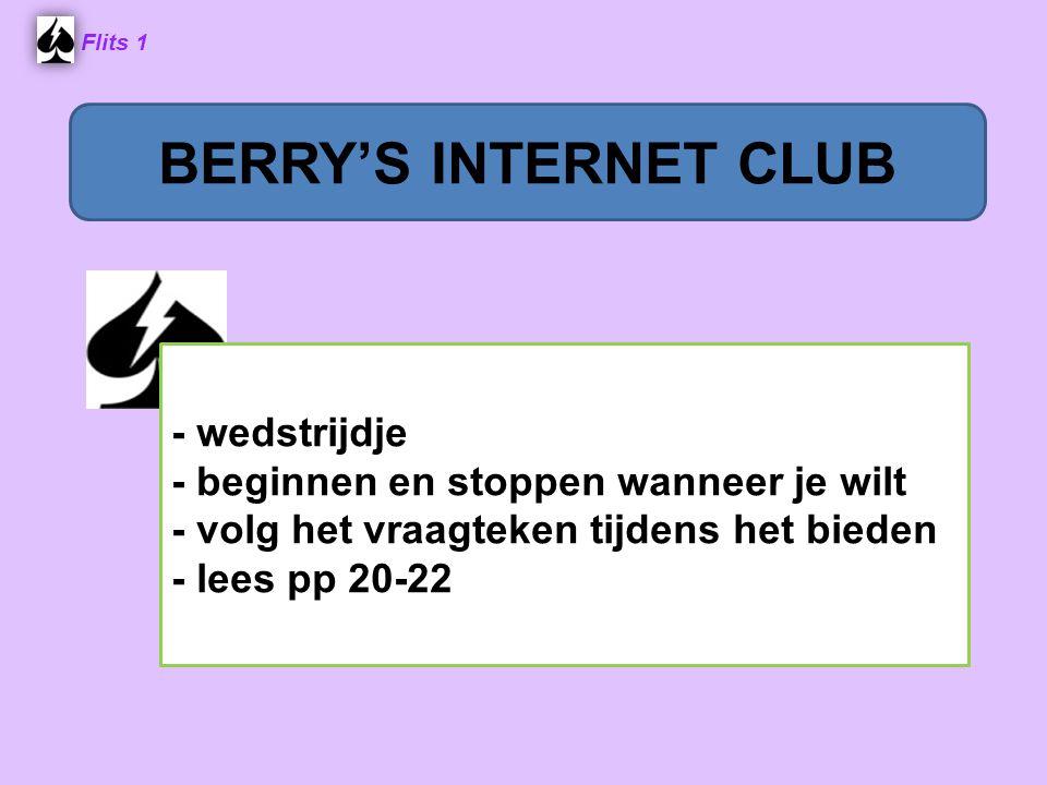 BERRY'S INTERNET CLUB - wedstrijdje