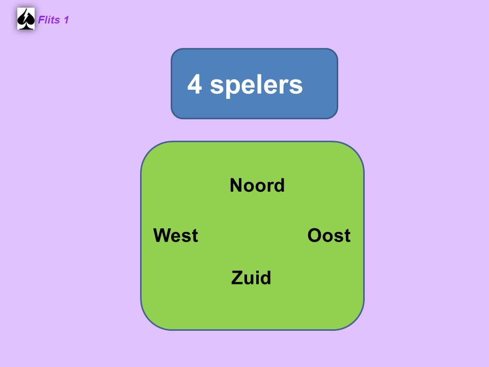 Flits 1 4 spelers Noord West Oost Spel 2. Zuid