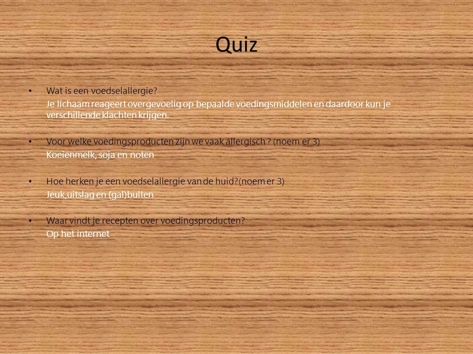 Quiz Wat is een voedselallergie