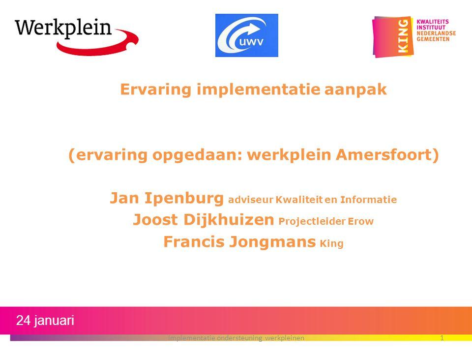Ervaring implementatie aanpak