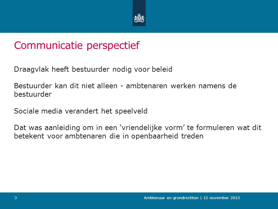 Communicatie perspectief