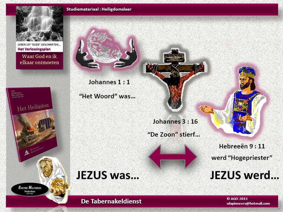 JEZUS was… JEZUS werd… Johannes 1 : 1 Het Woord was… Johannes 3 : 16