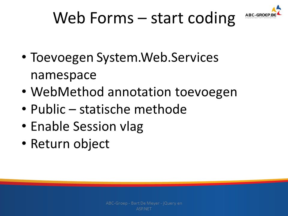 Web Forms – start coding