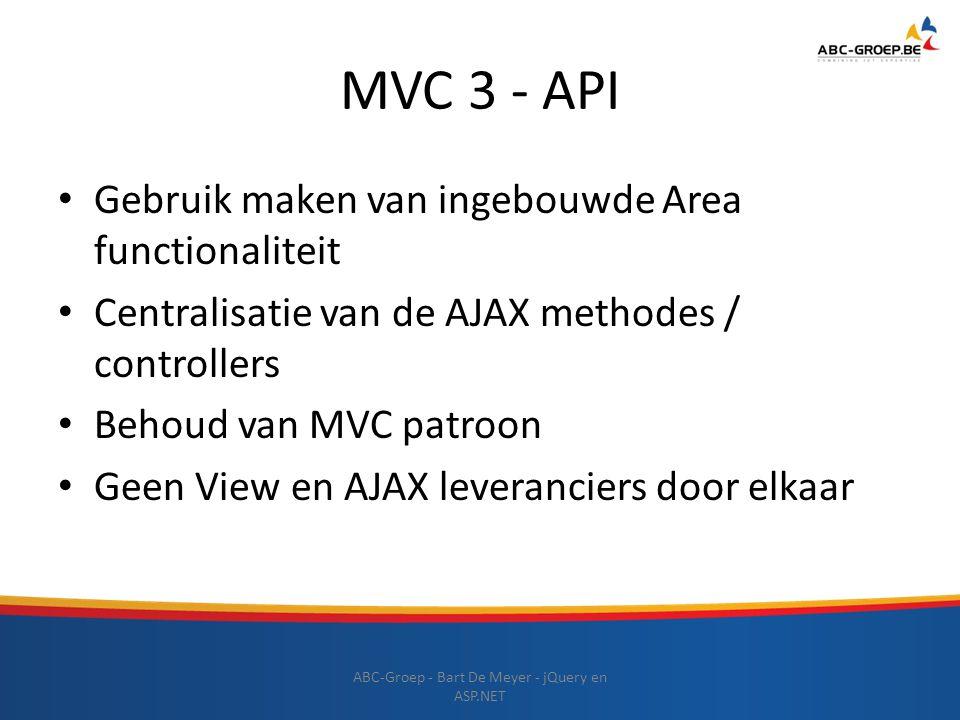 ABC-Groep - Bart De Meyer - jQuery en ASP.NET