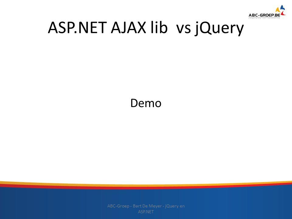 ASP.NET AJAX lib vs jQuery
