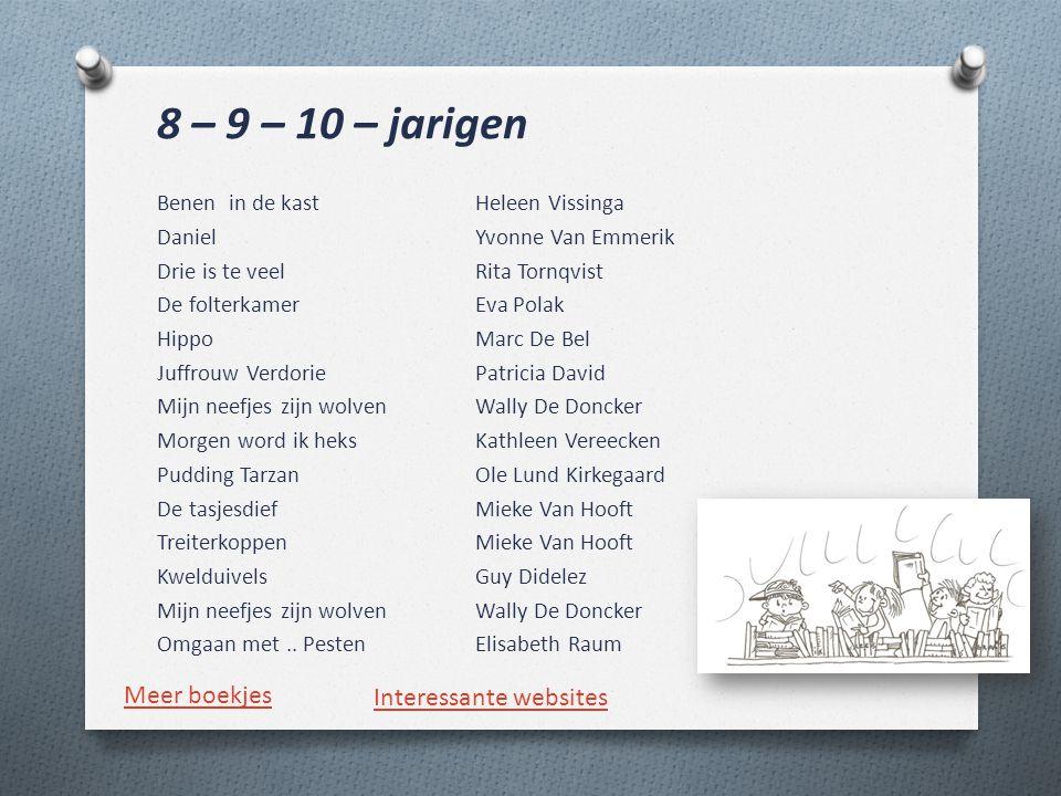 8 – 9 – 10 – jarigen Meer boekjes Interessante websites