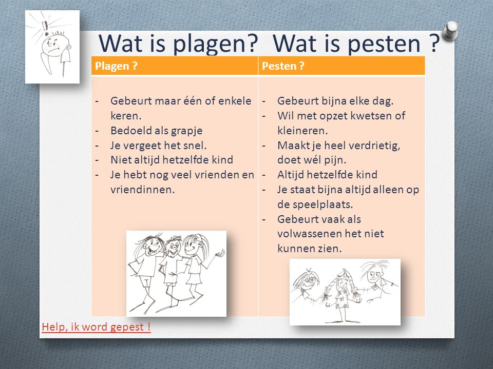 Wat is plagen Wat is pesten