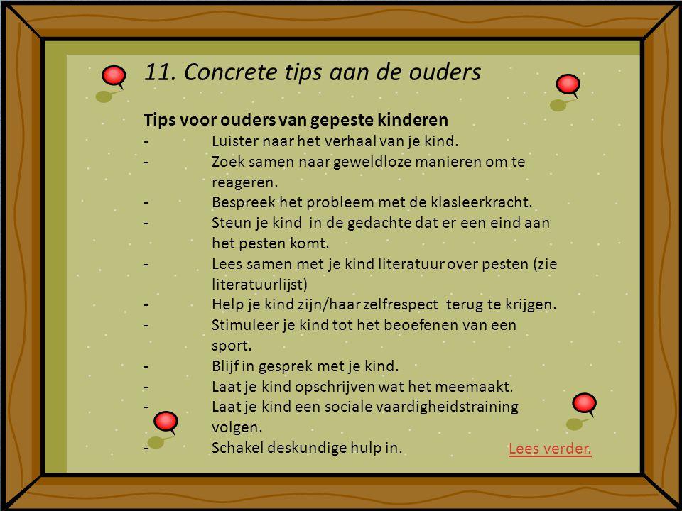 11. Concrete tips aan de ouders
