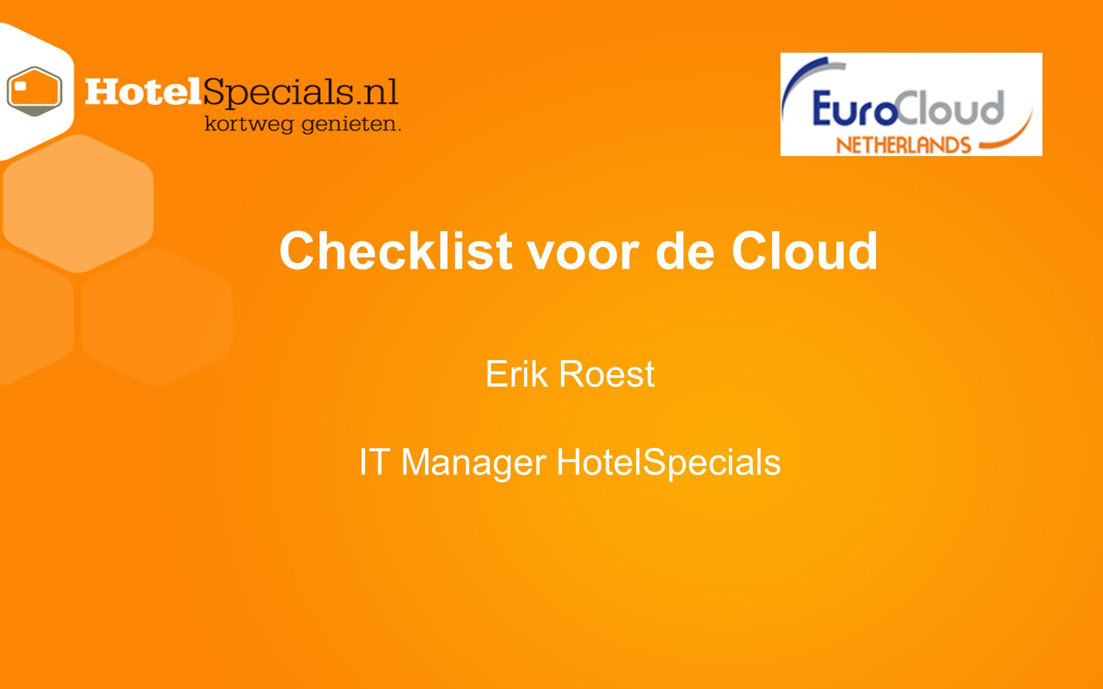 Checklist voor de Cloud
