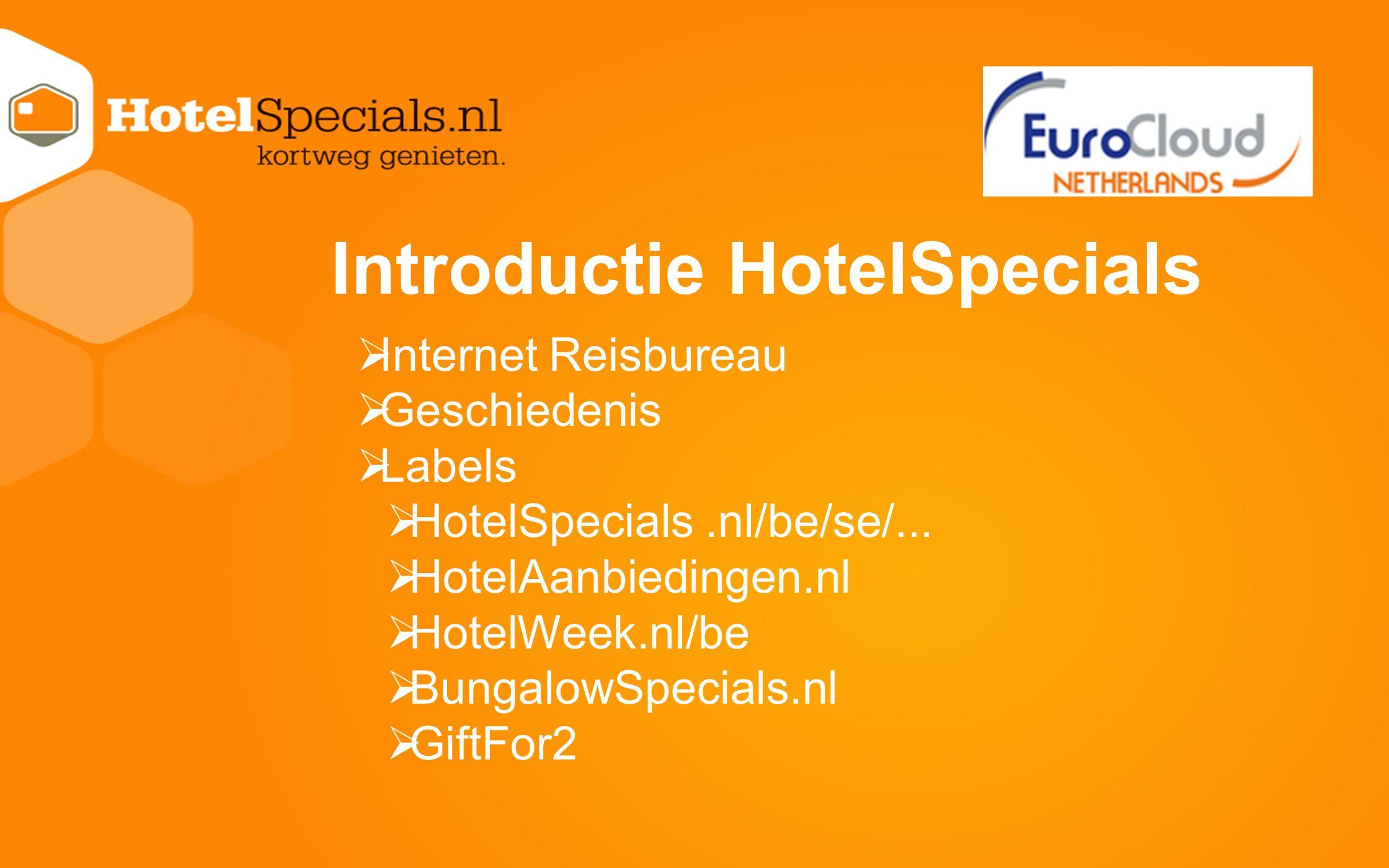 Introductie HotelSpecials
