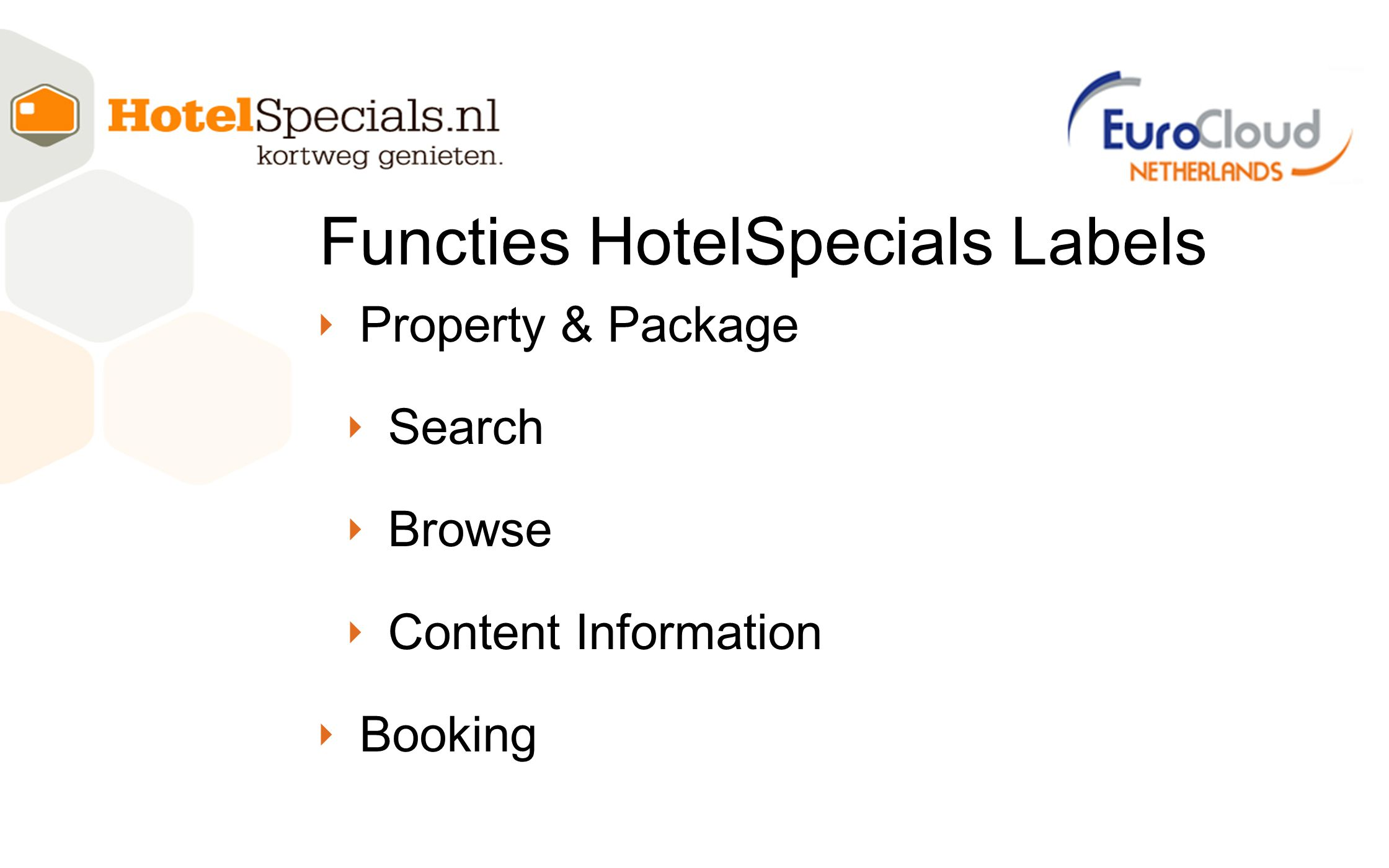 Functies HotelSpecials Labels