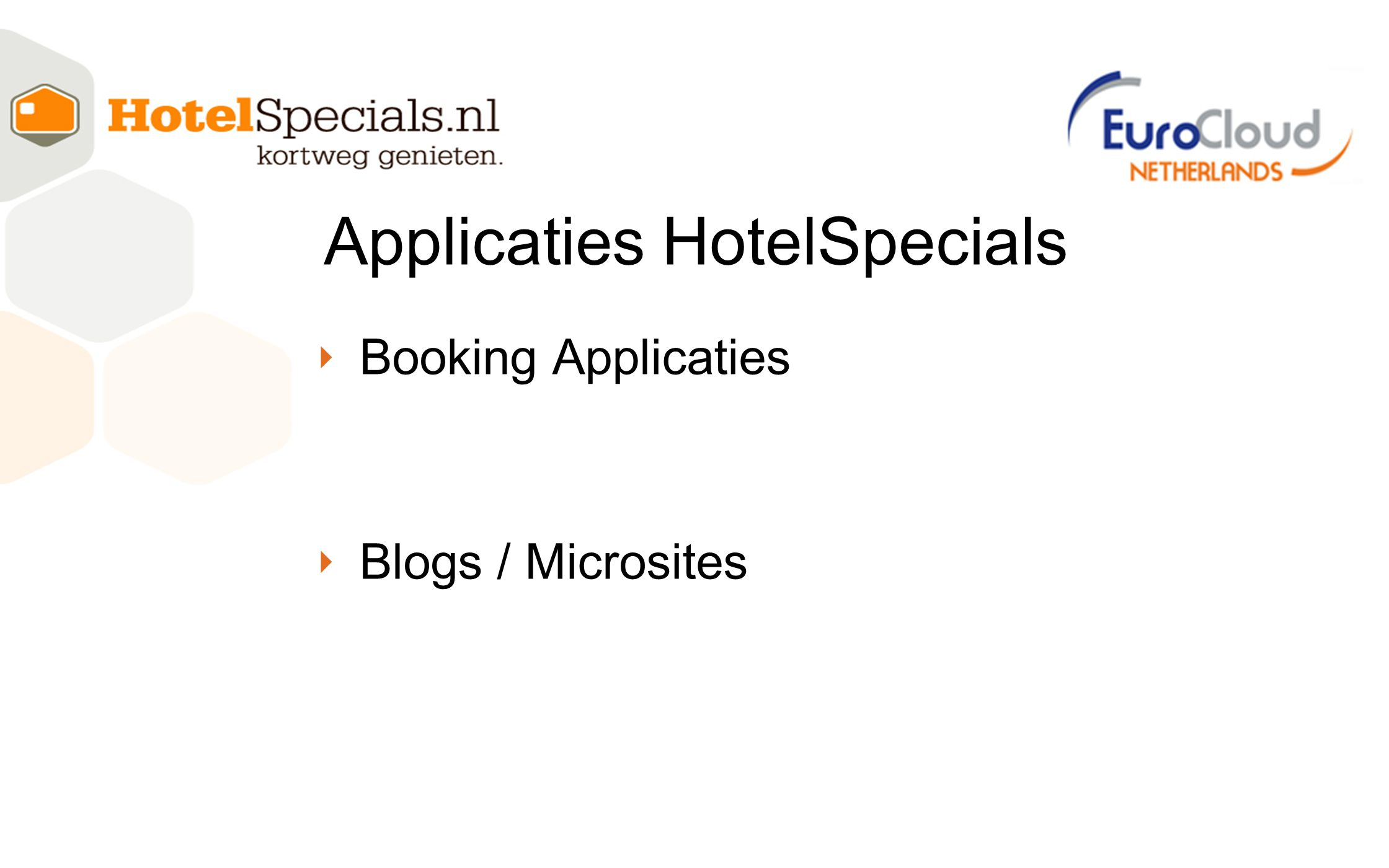 Applicaties HotelSpecials