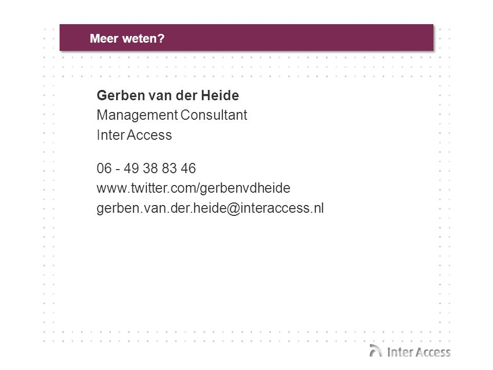 Management Consultant Inter Access
