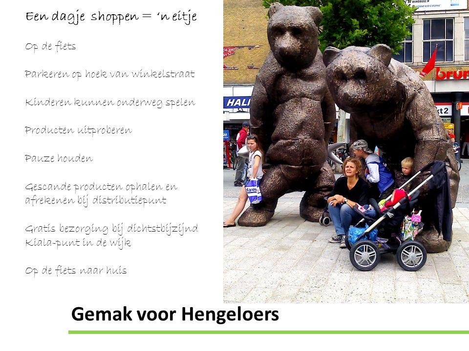 Gemak voor Hengeloers Een dagje shoppen = 'n eitje Op de fiets