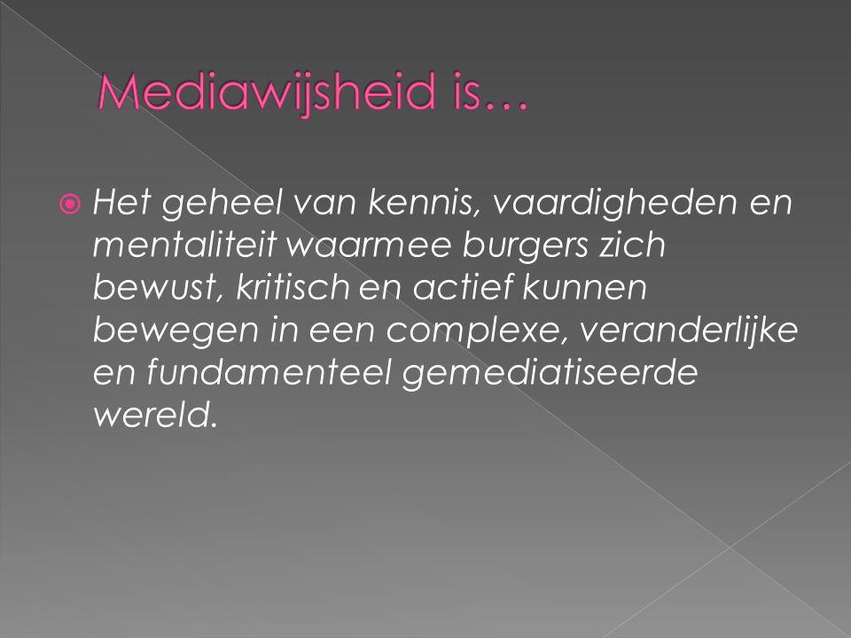 Mediawijsheid is…