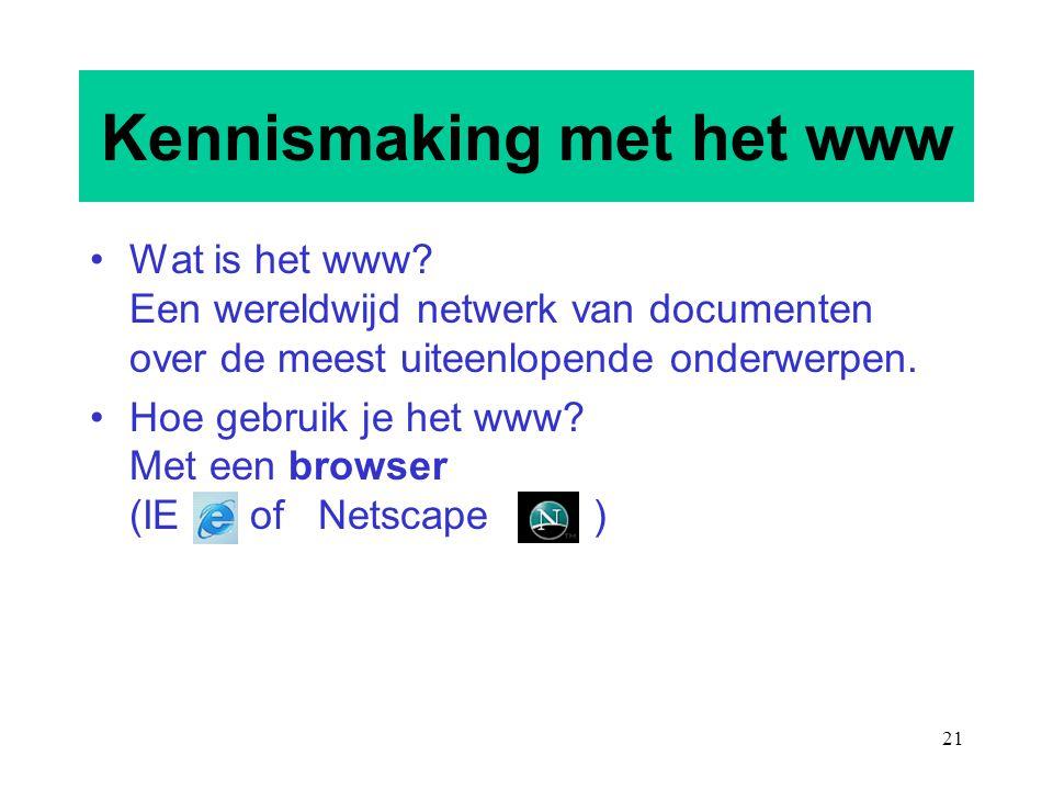 Kennismaking met het www