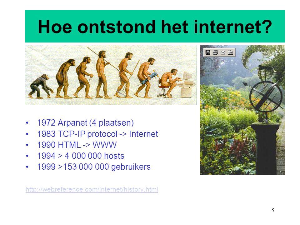Hoe ontstond het internet