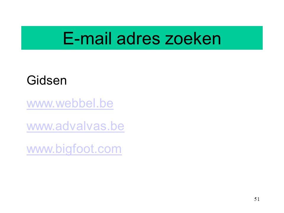 E-mail adres zoeken E-mail adres zoeken Gidsen www.webbel.be