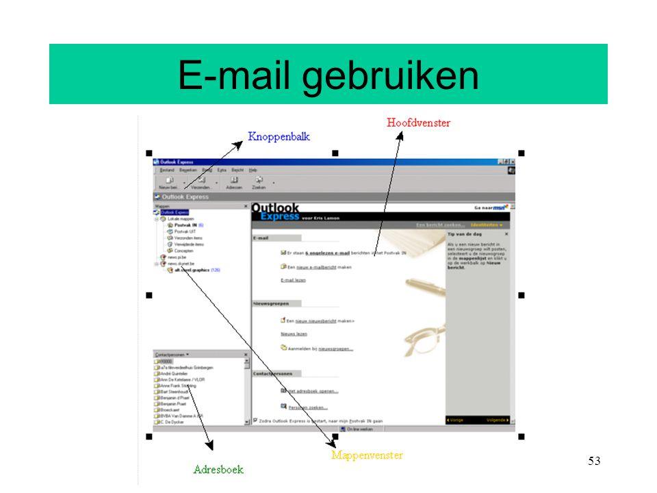 E-mail gebruiken